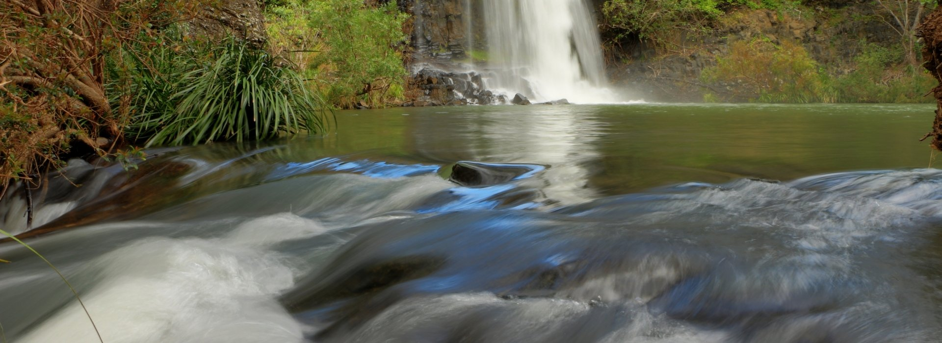 Right-hand Section of Big Millstream Falls - Millstream Falls National Park - Tablelands Regional Council